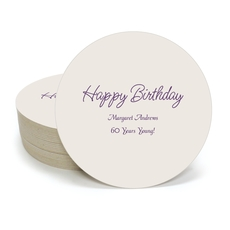 Perfect Happy Birthday Round Coasters