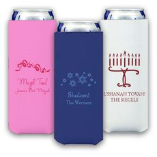 Design Your Own Jewish Celebration Collapsible Slim Koozies