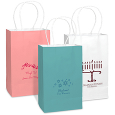 Design Your Own Jewish Celebration Medium Twisted Handled Bags