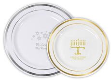 Design Your Own Jewish Celebration Premium Banded Plastic Plates