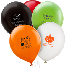 Design Your Own Halloween Latex Balloons