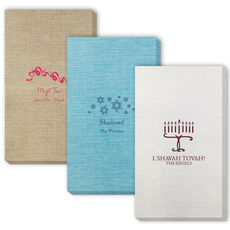 Design Your Own Jewish Celebration Bamboo Luxe Guest Towels