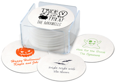 Design Your Own Halloween Round Coasters