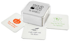 Design Your Own Halloween Square Coasters