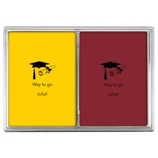 Mortar Board & Diploma Double Deck Playing Cards