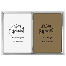 Fun Happy Retirement Double Deck Playing Cards