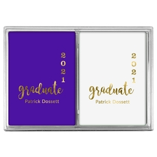 Graduate and Year Graduation Double Deck Playing Cards